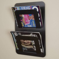 Wall Mounted Double Magazine Rack in Black | 7 Other colours available